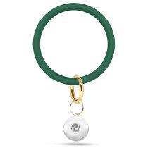 Neues rundes Silikon-Armband Schlüsselanhänger Großes Outdoor-Sport-Silikon-Armband passend für Schnappverschlüsse Schnappverschlüsse Schmuck