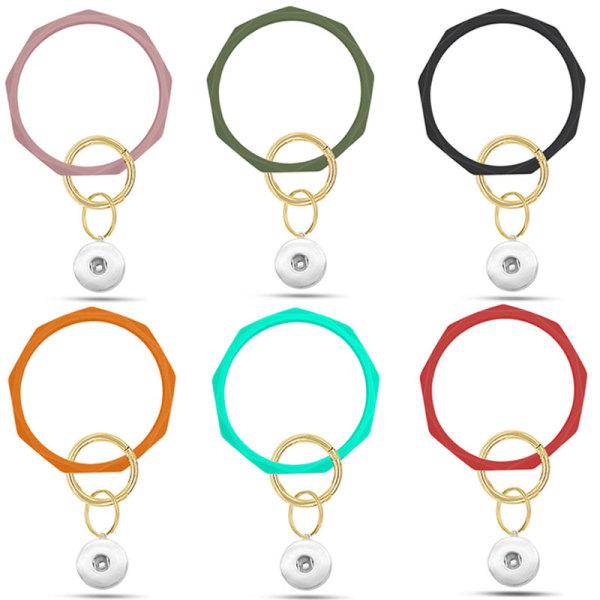 Das neue rautenförmige Silikonarmband, ein leistungsstarker Hersteller von Silikonarmband, Schlüsselanhänger, Anti-Verloren-Armband, passt zu Klumpen Snaps Jewelry