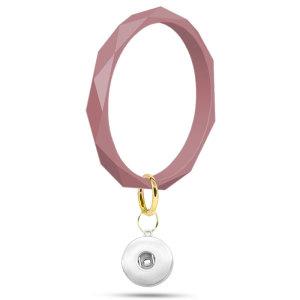 Llavero de pulsera de silicona con rombo Forma geométrica en forma de broches de presión en trozos Broches de joyería