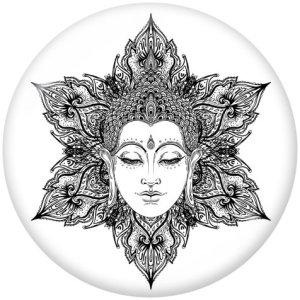 20 мм мандала цветок йога вера принт стеклянные кнопки кнопки