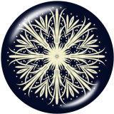20MM mandala Flower yoga Faith Print boutons pressions en verre