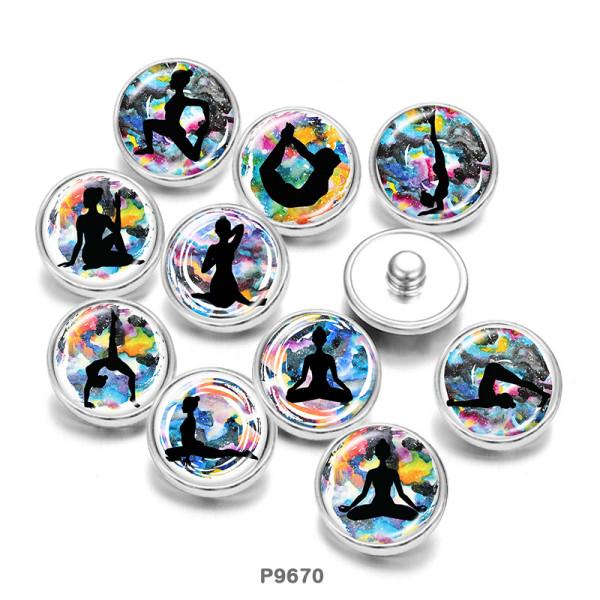 Стеклянные кнопки с принтом Yago 20 мм