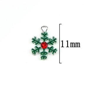Сплав рождественские капли масла снежинка кулон аксессуары для волос аксессуары браслет ожерелье аксессуары DIY аксессуары из сплава
