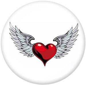 Стеклянные кнопки с принтом Cross Love Wing Dragonfly 20 мм