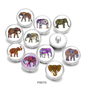 Стеклянные кнопки с принтом Elephant YOGA 20 мм