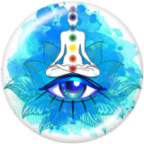 20MM Meditation Faith Yago Print boutons pressions en verre