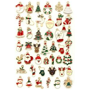 90 шт. / Лот, рождественский кулон, аксессуары для волос, аксессуары для браслетов, ожерелья, аксессуары для рукоделия