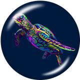 20MM chouette grenouille tortue de mer chat lapin chien impression verre boutons pression