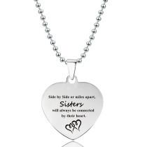 Stainless Steel Love Heart Stainless Steel Pendant Lettering Christmas Gift