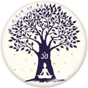 Стеклянные кнопки с принтом Meditation Faith Yago 20 мм
