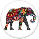 Стеклянные кнопки с принтом слона 20 мм