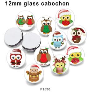 10 unids / lote productos de impresión de imágenes de vidrio de Papá Noel de Navidad de varios tamaños imán de nevera cabujón