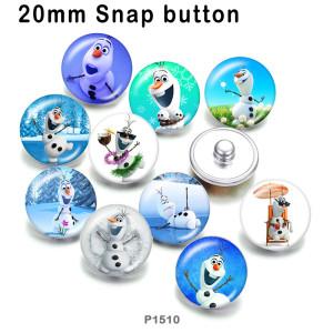 10 unids / lote productos de impresión de imagen de cristal de muñeco de nieve de Navidad de varios tamaños imán de nevera cabujón