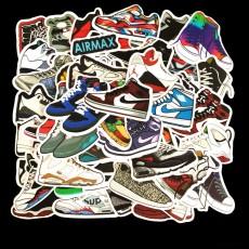 50 шт. Неповторяющихся модных брендовых кроссовок, чемодан на колесиках, ноутбук, скейтборд, гитара, наклейки с граффити для мобильного телефона