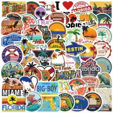 50 шт. Наклейки граффити Флориды персонализированные украшения чемодан водонепроницаемая чашка для воды DIY