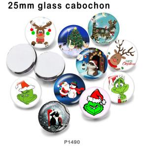 10 unids / lote productos de impresión de imágenes de vidrio de ciervo navideño de varios tamaños imán de nevera cabujón