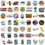 50カリフォルニアの落書きステッカーはスーツケースのウォーターカップ防水DIYを飾ることができます
