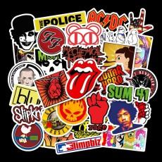 52 шт. Рок-рок панк-группа водостойкие съемные граффити наклейки на руку скейтборд наклейки на тележку