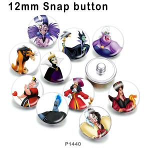 10 unids / lote productos de impresión de imágenes de vidrio de bruja mago de varios tamaños imán de nevera cabujón