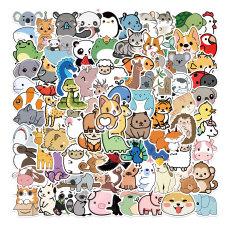 100 мультфильм натуральных животных коллекция граффити наклейки декоративный чемодан водонепроницаемые наклейки, не оставляя клея