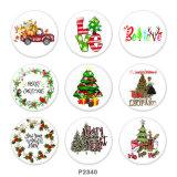 20MM Christmas Car love Print glass snaps buttonDeer