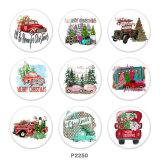 20MM  Christmas  Car   Print   glass  snaps buttons