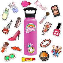 50 девочек косметика милые граффити наклейки чемодан ноутбук гитара водонепроницаемые наклейки наклейки
