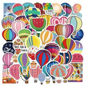 50 dibujos animados globo de aire caliente pegatinas de graffiti maleta decorativa taza de agua guitarra impermeable DIY