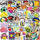 50 Ball Sports Collection Aufkleber Personalisierte Dekoration Gepäck Notizbuch Wasserdicht Abnehmbarer Kleber Nicht wiederholende Aufkleber