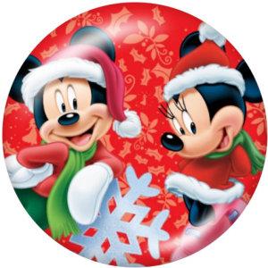 20MM Cartoon Christmas Print bouton pressions en verreCerf