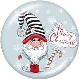 Стеклянные кнопки с рождественским принтом 20 мм