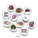 20MM MOM rugby Basketball Print boutons pression en verre