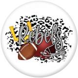 20MM Sports Eagles Patriots Print boutons pression en verre