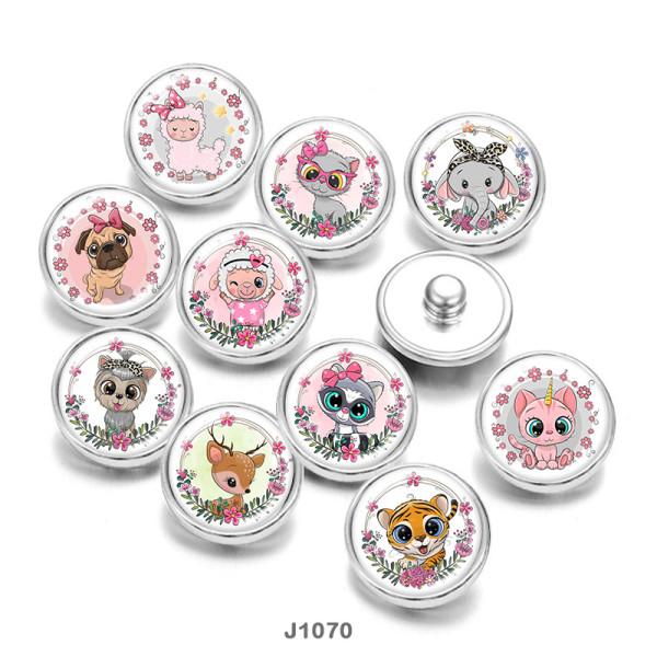 Стеклянные кнопки с принтом, 20 мм, кошка, слон, овчарка, собака, Патриоты