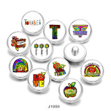 Стеклянные кнопки с принтом Love Apple Print 20 мм