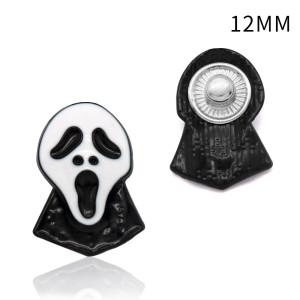 Металлические посеребренные карабины с кнопками 12 мм в стиле Хэллоуина Многоцветный