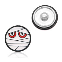 20MM Halloween  design metal silver plated snap charms Multicolor