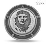 Металлические посеребренные подвески с металлическими кнопками, 20 мм, черный, с изображением черепа мира,