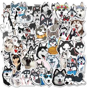 50 милых домашних животных хаски граффити наклейки чемодан ноутбук термос компьютер водонепроницаемые наклейки