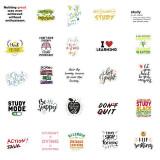 100 autocollants de graffiti d'apprentissage de l'anglais inspirants bagages décoratifs imperméables sans laisser d'autocollants de colle