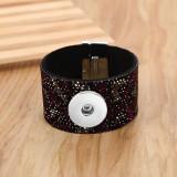 ダイヤモンドレオパードプリント磁気ブレスレットfit18&20MMスナップジュエリー