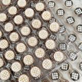 20MM Hochwertige Metallperle Silber vergoldete Snap Charms passen zu 20mm Snap Schmuck