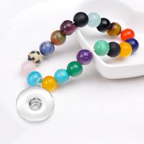Бисер ручной работы DIY кристалл смешанный цвет браслет 10 мм браслет из натурального камня fit18 и 20 мм защелкивающиеся украшения