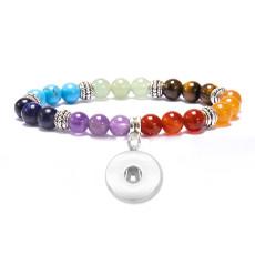 8 мм бисер семь чакр браслет из бисера натуральный камень кристалл браслет fit18 и 20 мм защелкивающиеся ювелирные изделия