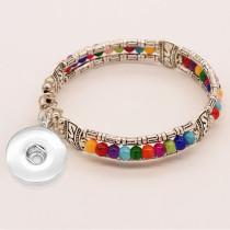 Серебряный браслет бирюзового цвета подходит для ювелирных изделий с кнопками 18 и 20 мм.