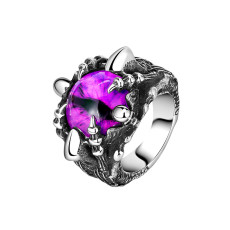 Stainless steel Retro European and American style men's devil's eye ring