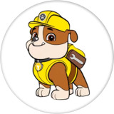 Стеклянные кнопки с принтом собаки 20 мм