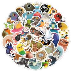 50 сказочных мультяшных животных милая птица сова граффити наклейки мобильный телефон чашка для воды компьютер ручная учетная запись наклейки на книги