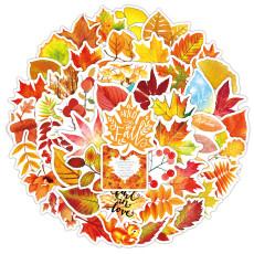 50 осенних листьев кленовый лист осенние граффити наклейки ноутбук чашка для воды водостойкие наклейки на багаж