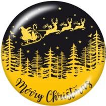 20MM Christmas  rabbit  Deer  Print   glass  snaps buttons